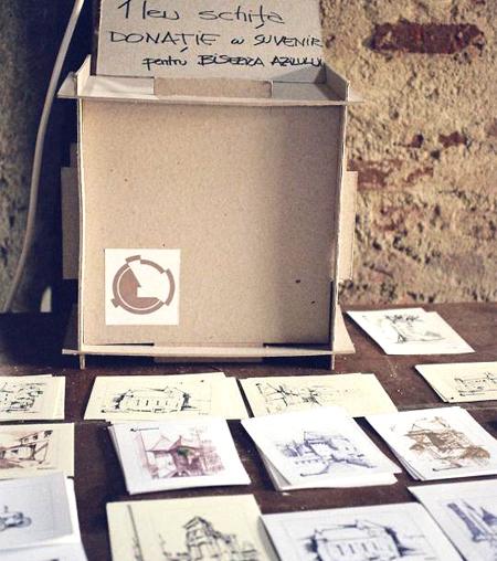 cutia din mucava, încropită ad-hoc de Călin